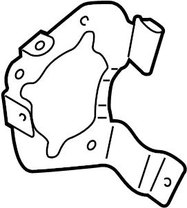 2015 Audi Air pump bracket. BRACKET. GAS, from 11/17/2014