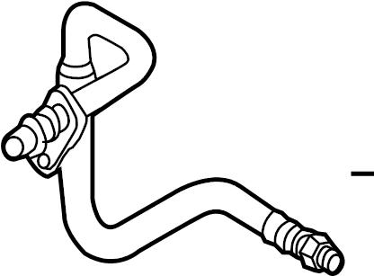 2013 Audi Automatic Transmission Oil Cooler Hose Assembly