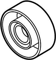 Audi A4 Accessory Drive Belt Idler Pulley. RELAY ROLL