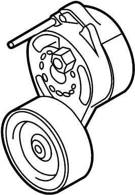 2007 Audi Belt tensioner. BELTDAMPER. SERPENTINE TENSIONER