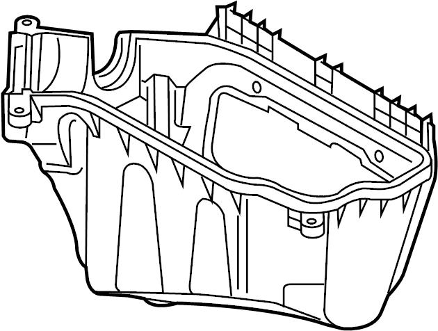 2011 Audi Q5 Air Filter Housing. ELECTRONICS BOX. Engine