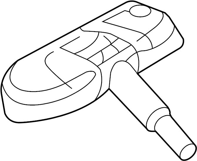 2007 Audi Control module. Pressure sensor. Sensor. Tire