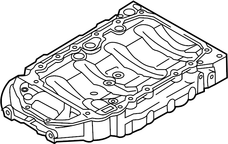 Audi A4 Engine Oil Pan (Upper). LITER, BEARINGS, CYLINDER