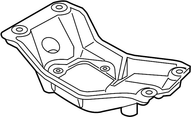 2016 Audi Q5 Transmission Crossmember. LITER, AUTO, WAWD