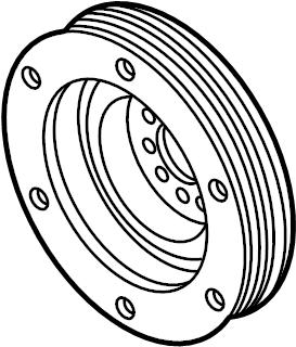 Audi A6 Engine Crankshaft Pulley. Vibration Damper. Incl