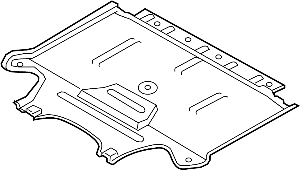 2015 Audi A4 Baffle plate. Rear shield. Liter, SUSPENSION