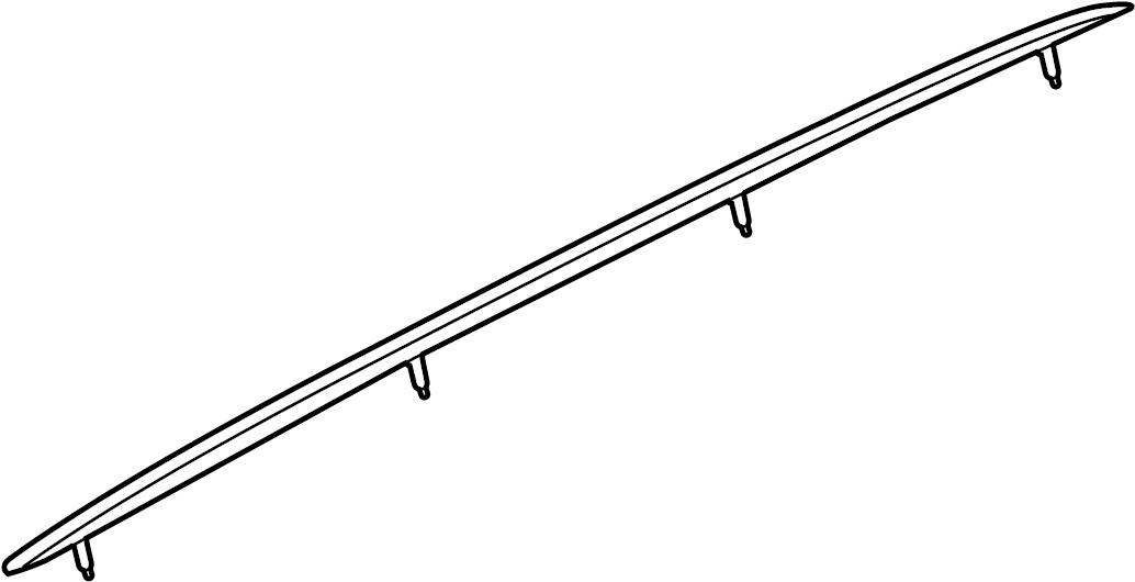 2016 Audi Q5 Roof Luggage Carrier Side Rail. Chrome