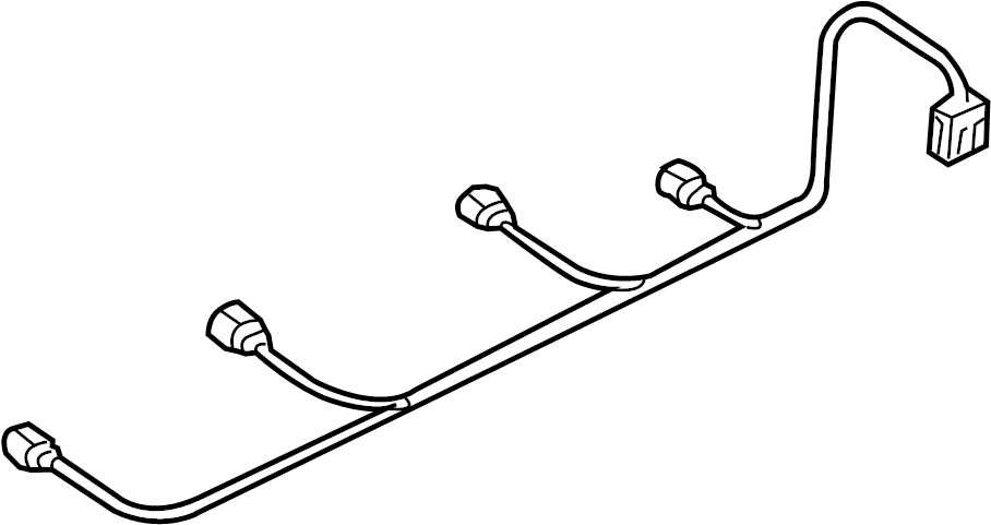 Audi Q5 Parking Aid System Wiring Harness. W/O S-LINE PKG