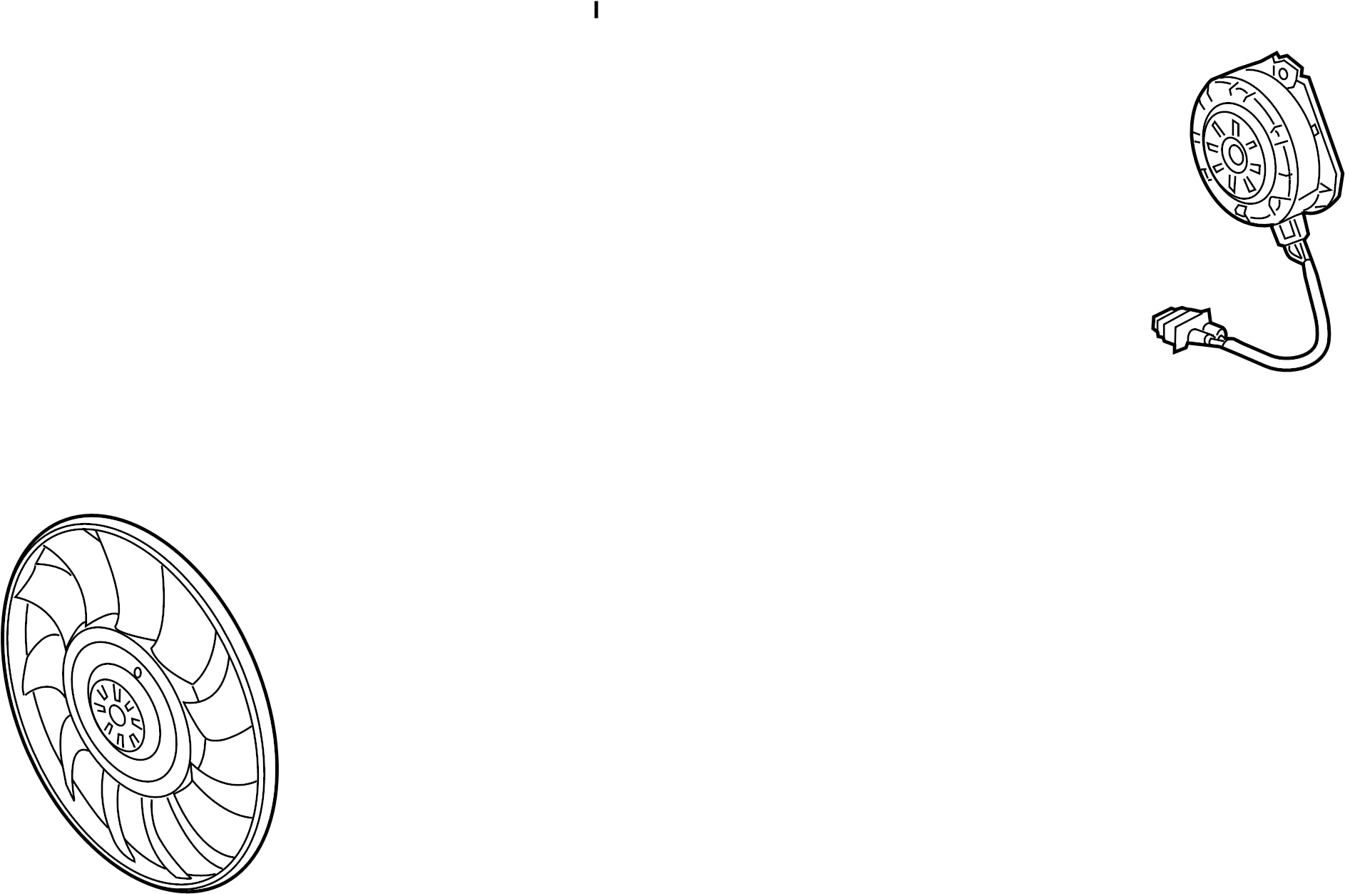 Audi Q5 Fan Motor Cooling Right Liter