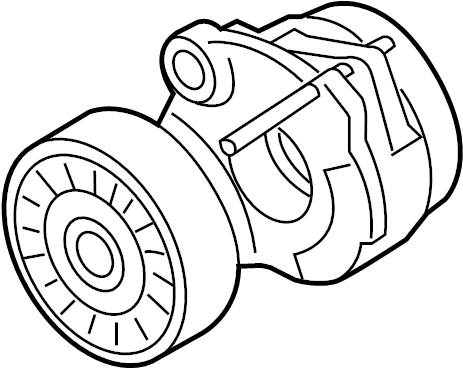 Audi Q5 Accessory Drive Belt Tensioner Assembly