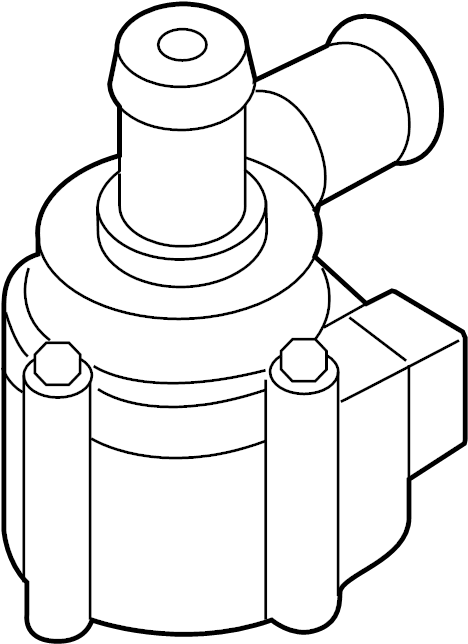 2015 Audi A4 Auxiliary pump. Engine auxiliary water pump