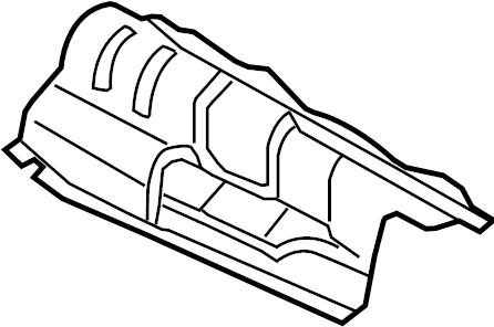 Audi Q5 Floor Pan Heat Shield (Rear). Gas, Exhaust, LITER