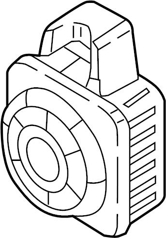 Audi Q7 Anti-Theft Alarm Siren. Horn, MOTION, Sensor