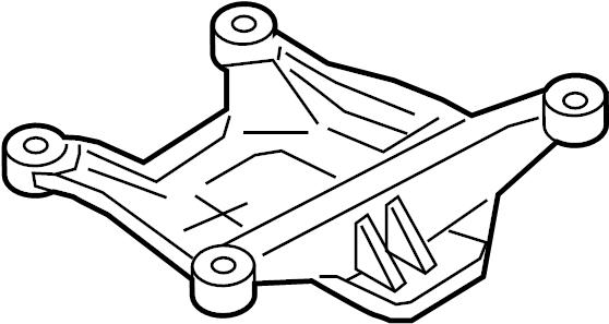 Audi A4 Automatic Transmission Mount Bracket. LITER