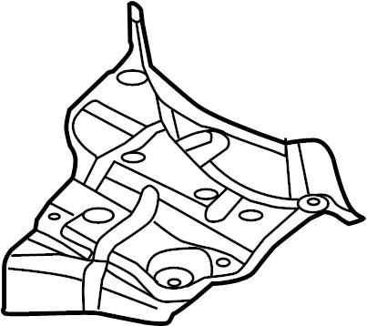 2013 Audi S5 Shield. Heat. EXHAUST. Floor Pan. PLATE