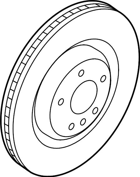 2016 Audi Q5 Brake disc. Disc brake rotor. A single disc