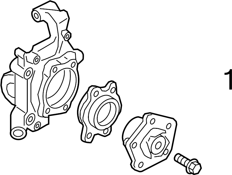 2017 Audi A4 Wheel bearing. WHEEL HUB. W/338X30MM ROTOR, w