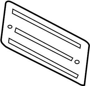 2013 Audi A5 License. Panel. Bracket. MOUNT. Plate. 2013