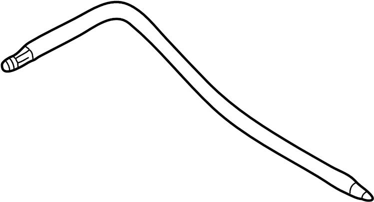 Audi A6 Power Steering Pressure Hose (Lower). LITER, Gear
