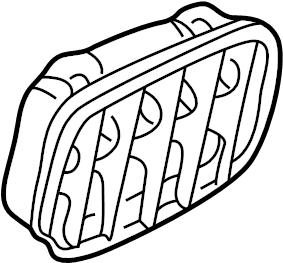 2009 Audi TT Vent. Grille. Frame. Pressure valve. Quarter