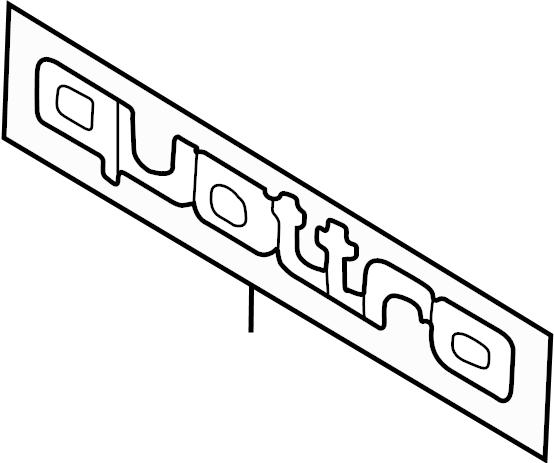 Audi A4 Emblem. (Front). TRIM, EXTERIOR, Liter