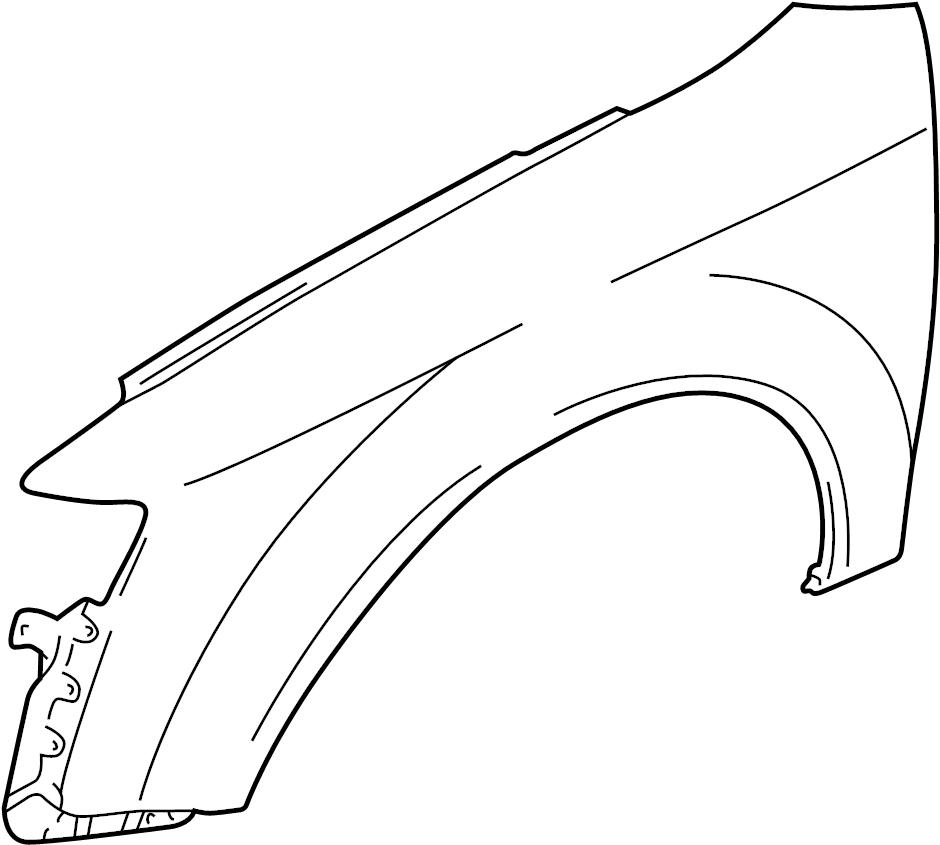 2004 Audi A4 Base Sedan 1.8L CVT FWD Fender (Front). Left