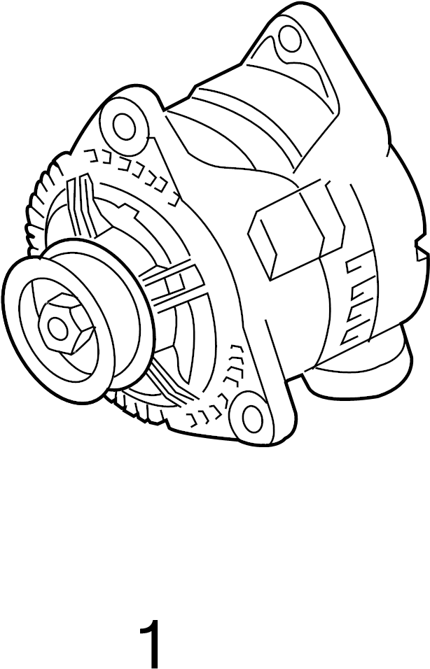 2007 Audi Alternator Pulley. Included with: Alternator
