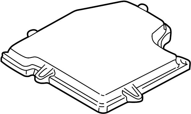 Audi A4 Cover. Engine Control Module. Fuse box. Under
