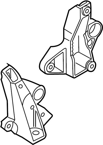 Audi S4 Bracket. Mount. Transmission. (Upper). LeftOLD