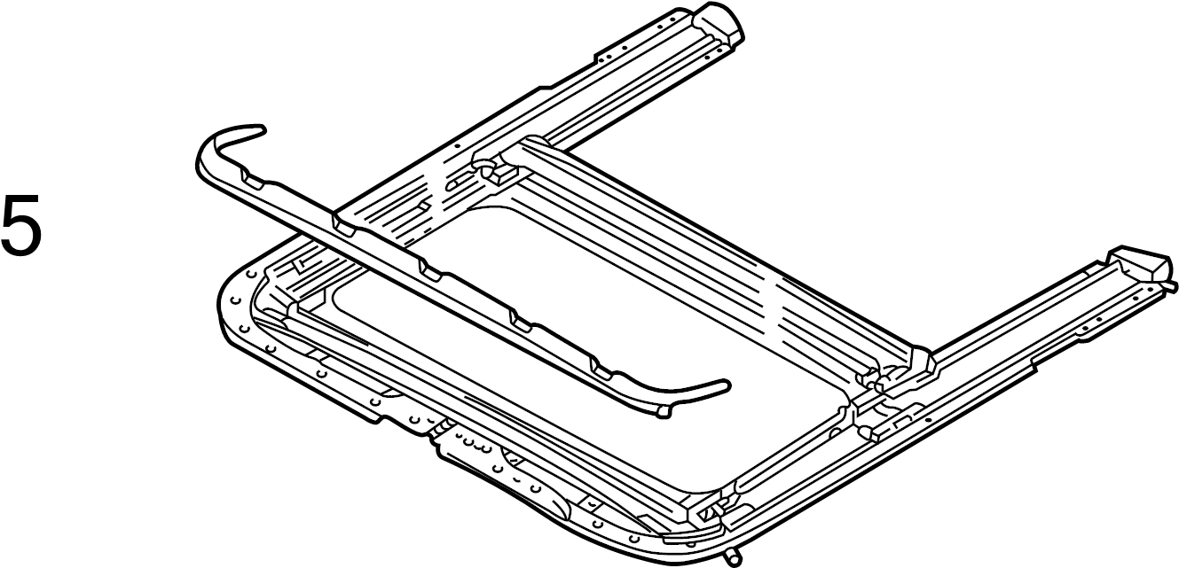 Audi A4 Air deflector. Included with: Frame assembly