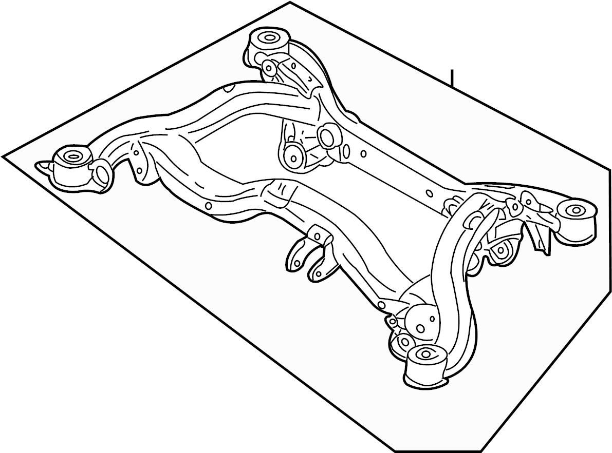 Audi A4 Suspension Subframe Crossmember. Liter, ARM