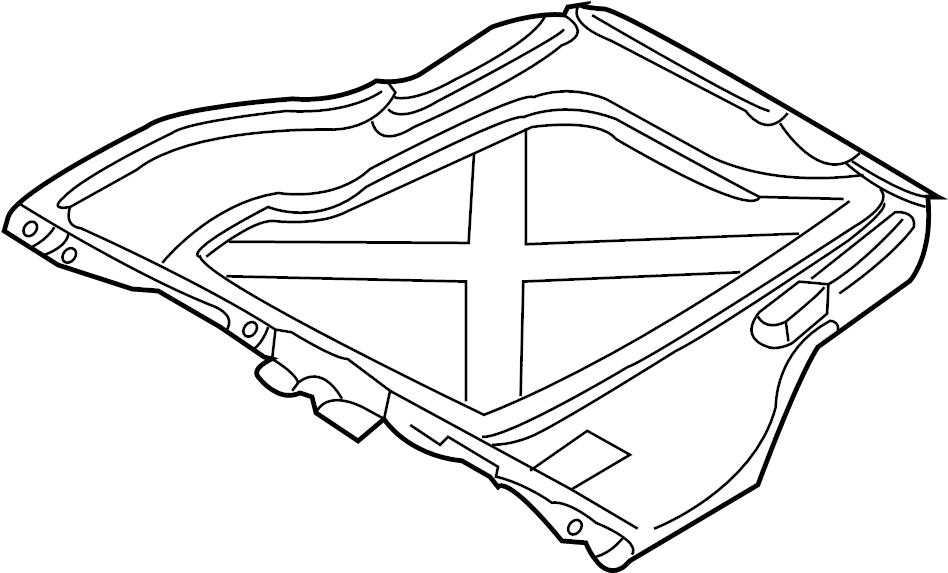 2000 Audi A6 Radiator Support Splash Shield (Rear). LITER