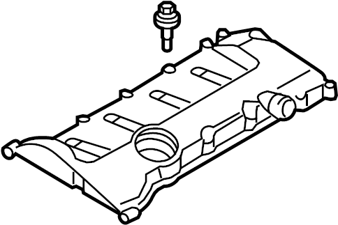 2009 Audi A4 Cabriolet Convertible Engine Valve Cover. 2.0