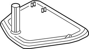 09L325429  Strainer Transmission filter Filter to remove debris from the  Genuine Audi Part