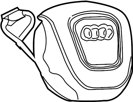 2006 Audi A4 Base Sedan 3.2L V6 M/T FWD Steering Wheel Air
