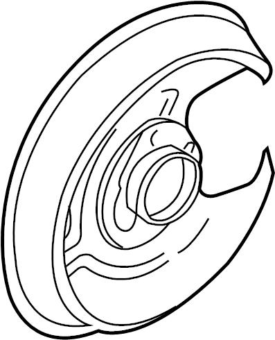 2009 Audi Brake Dust Shield. W/O QUATTRO. W/O QUATTRO, A4