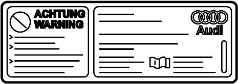 2014 Audi S5 Prestige Coupe A/c system information label
