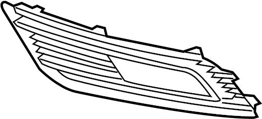2015 Audi A4 Grille (Lower). A4, W/O S-LINE PKG, 2013-2016