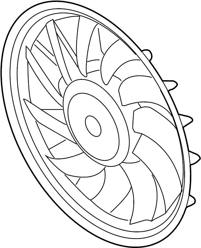 2014 Audi Q5 Fan. Motor. COOLING, Left, LITER
