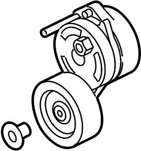 2012 Audi Accessory Drive Belt Tensioner Assembly