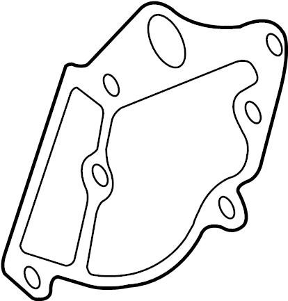 2010 Audi Q5 Cover gasket. Engine coolant outlet gasket