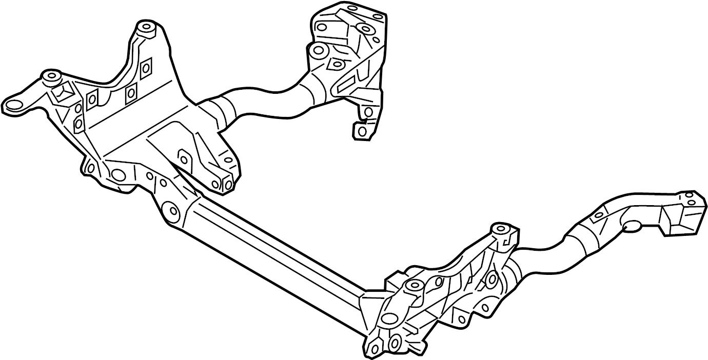 Audi A4 Engine Cradle. SUB FRAME. SUSPENSION crossmember