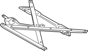 8T1399345J  Suspension Brace TRANS, LITER, ENGINE  Genuine Audi Part