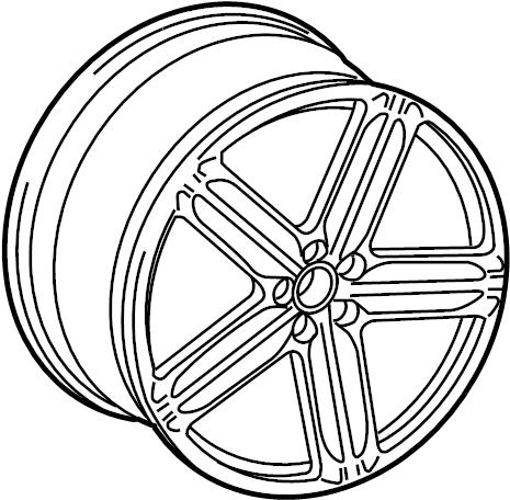 Audi A4 Wheel, alloy. 18, 5 double spoke, type 2