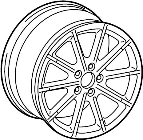 Audi A4 Wheel, alloy. 18, 10 narrow spoke, w/round center