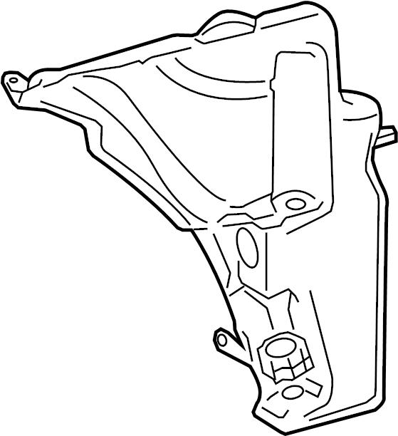 Audi A4 Washer Fluid Reservoir. Washer Fluid Reservoir