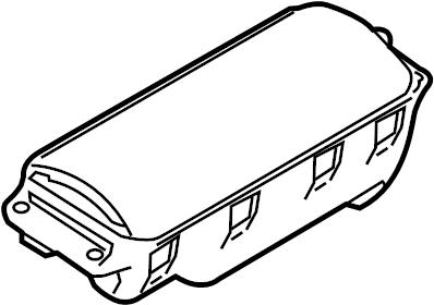2010 Audi A5 2.0L CVT FWD Airbag. Instrument panel air bag