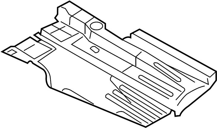 2010 Audi A4 Floor Pan Splash Shield (Rear). Left, Side