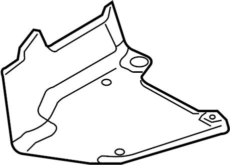 Audi A4 Floor Pan Splash Shield (Rear). BODY, SEDAN, WagON