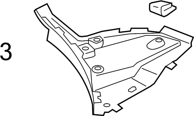 2017 Audi Q3 Nut. Fender. Liner. Shield. Audi; Volkswagen